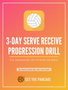 3-Day Serve Receive Progression Drill | Eye-Sequencing