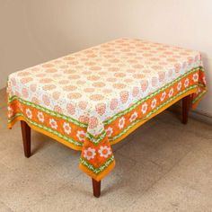 Tablecloth Rectangular 152 X 228 Table Decorations Spring Floral Cotton: Amazon.co.uk: Kitchen & Home