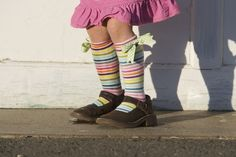 Knee-High Socks out of outgrown tights