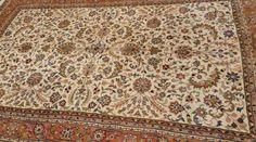 TOP-Äkta Handknuten persisk Matta Keshan 295x 198cm på Tradera.com -