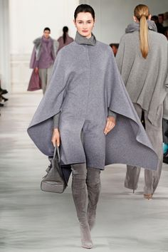 Gray Area: Black and white are always in style, but gray is making a play for the neutral of the moment.  Ralph Lauren, Fall 2014