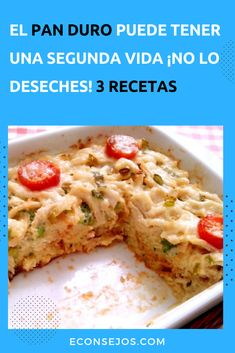 """3 Recetas con """"pan viejo"""" muy apetitosas - Second-hand Tutorial and Ideas Pan Bread, Empanadas, Flan, Quick Meals, How To Grow Taller, Sandwiches, Food And Drink, Cooking Recipes, Chicken"""