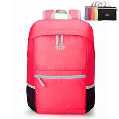 Baida Durable Packable Handy Lightweight Travel Hiking Backpack Daypack  Pink *** Click image for more details. Amazon Affiliate Program's Ads.