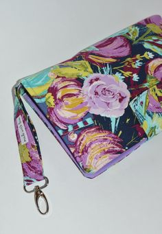 Diaper Clutch, Shape And Form, Cotton Fabric, My Etsy Shop, Floral Prints, Purple, Flower Prints, Viola, Diaper Caddy