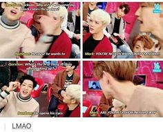 Mark has had it with Bambam shenanigans XD GOT7