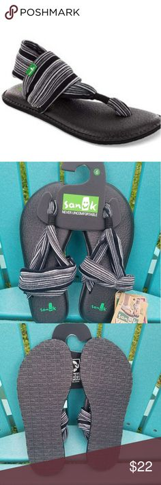New Sanuk Yoga Sling Sandals New size 6 NWT Top Design - Awesome most comfortable chair in the world Top Design