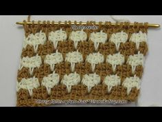 Tunisian Crochet - Crazy Pattern from Susi (IN GERMAN - If you are familiar with Tunisian Crochet you can watch this video to learn this stitch... The video is very good... Deb)