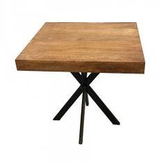 Table bistrot en bois & métal Vintage