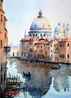Gallery of artist Chrysovalantou Mavroudis | Chrysovalantou Mavroudis Watercolour Artist - Santa Maria della Salute