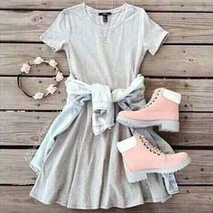 cute outfits for teens Summer Fashion For Teens, Tween Fashion, Teen Fashion Outfits, Mode Outfits, Girly Outfits, Cute Casual Outfits, Cute Fashion, Outfits For Teens, Girl Fashion