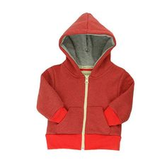 Simple Lush Hoody - mini mioche - organic infant clothing and kids clothes - made in Canada.  The perfect unisex layering hoody!