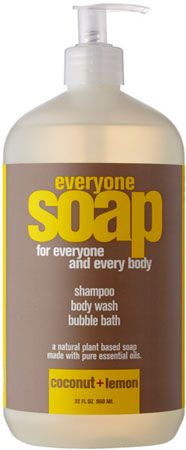 Everyone Soap by EO, in coconut and lemon shampoo/body wash/bubble bath