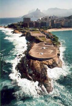 At the Forte de Copacabana in Rio de Janerio, Brazil. Wonderful Places, Beautiful Places, Beautiful World, Places To See, Places To Travel, Places Around The World, Around The Worlds, Rio Brazil, Brazil Travel