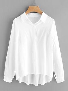 Bluse mit sehr tief angesetzter Schulterpartie und Streifen