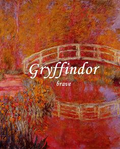 """Harry Potter: """"Gryffindor"""" (brave) Monet Painting paintings"""
