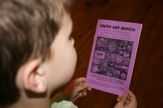 March is Youth Art Month!   Printed book with listing of all art on display in the school and where.