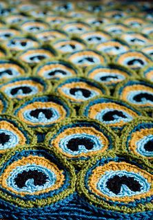 This is one amazing piece of art! Crochet Peacock Afghan Pattern