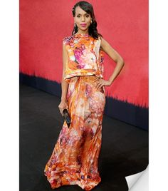 Love her..Kerry Washington in Floral Gown
