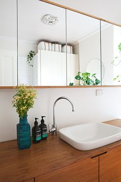 """With that in mind, it's easy to discern the general rule for throwing stuff out. But there are other ways to check if something has gone """"off"""" or if it's no longer as effective as it once was. Here's what to know about your go-to medicine cabinet picks. Bathroom Vanity Organization, Small Bathroom Storage, Diy Bathroom Decor, Mirror Bathroom, Bathroom Cabinets, Bathroom Ideas, Small Shower Remodel, Master Shower, Master Bath"""