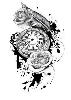 Pocket Watch Tattoo Design: Sale! Up to 75% OFF! Shot at Stylizio for women's and men's designer handbags, luxury sunglasses, watches, jewelry, purses, wallets, clothes, underwear
