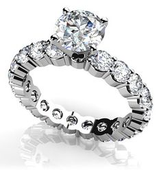 Shared Prong Eternity Style Engagement Ring