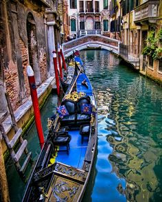 Lovely composition of this gondola on a Venetian canal. [HDR]