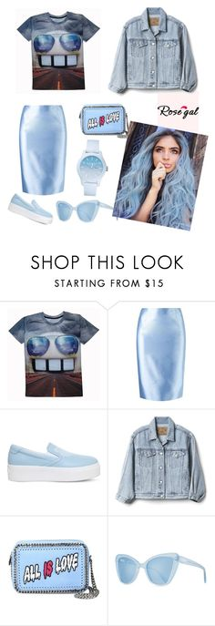 """""""t-shirt with print✌"""" by antoxin ❤ liked on Polyvore featuring Martha Medeiros, Kenzo, Gap, STELLA McCARTNEY, Prism and Lacoste"""
