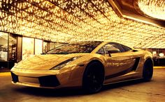 Gold Car   Golden Lamborghini Gallardo Luxery Car HD Wallpaper - LGMSports.com