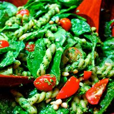 Spinach and Pasta Salad with Pesto recipe on Food52