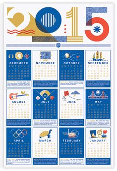 2015 Brave Wall Calendar Design By. Brad Woodard