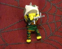 Yellow Army Man with Gun Voodoo Keychain [005VS] - $3.99 : Mystic Crypt, the most unique, hard to find items at ghoulishly great prices!