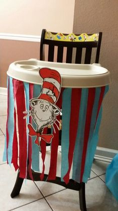Dr. Seuss high chair decor