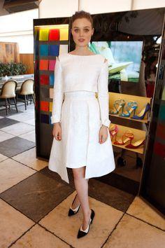 Bella Heathcote.. white Osman AW 2013 dress..