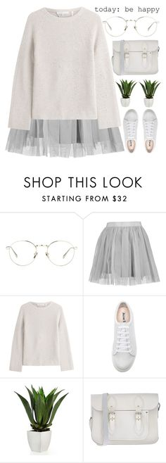 """soft offerings"" by evangeline-lily ❤ liked on Polyvore featuring Linda Farrow, Boohoo, Helmut Lang, Acne Studios, The Cambridge Satchel Company, pastel, sweaterweather, topset and Fall2016"