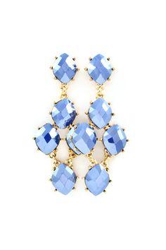 Dalia Chandelier Earrings in Prussian Blue