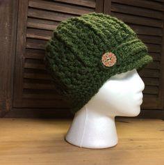 Crochet newsboy hat, winter hat, women's crochet hat with brim, warm hat by anniescraftcloset on Etsy https://www.etsy.com/listing/264364302/crochet-newsboy-hat-winter-hat-womens