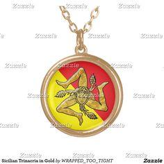 Sicilian Trinacria In Gold Gold Plated Necklace #sicilian #trinacria #in #gold #gold #plated #necklace