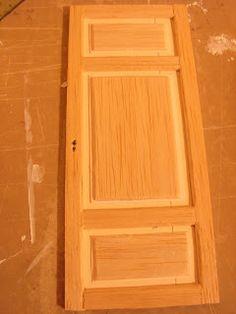 Mini daydreams: Making a shabby panel door / mirror door making