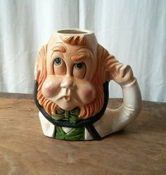 Vintage Figural Mug The Doctor Hoffman Distillery 1978 Mr. Lucky Series Kitsch Barware Irish Drinking Dr or Leprechaun Red Hair Vintage Bar, Leprechaun, Distillery, Kitsch, Red Hair, Barware, Drinking, Irish, This Or That Questions