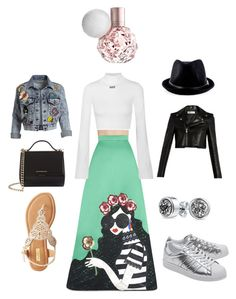 """""""Day & night ..so cool"""" by alsereihi-reem on Polyvore featuring Alice + Olivia, Yves Saint Laurent, Off-White, adidas Originals, Qupid, Bling Jewelry and Givenchy"""