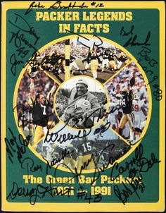 1991 Green Bay Packers Signed Packer Legends In Facts. #packers #nfl