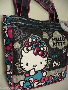 f9ccee3108 Loungefly Hello Kitty Pile of Bows applique Large Tote Bag