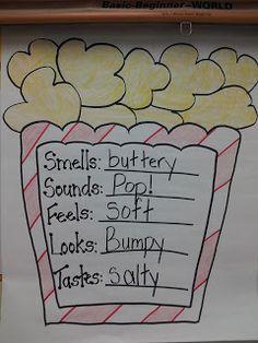 The Five Senses - Popcorn Activity