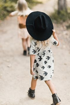 Rylee and Cru Unique Girls Dress with Birds