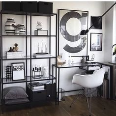 Turn your boring, bland home office into a super-chic, gorgeous workspace. Here are 39 ideas to inspire you. home office decor ideas 39 Chic Home Office Workspaces You'll Want to Copy Immediately Home Office Space, Home Office Design, Home Office Decor, House Design, Home Decor, Office Ideas, Design Design, Studio Design, Design Ideas