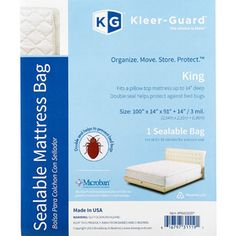 Sealable Pillow Top Mattress Bags.  Perfect for moving and storage.