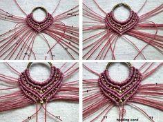 free macramé pattern http://ecocrafta.blogspot.com/2016/07/macrame-earrings-gypsy-pink.html