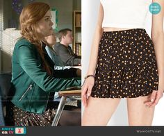 Lydia's floral skirt on Teen Wolf.  Outfit Details: https://wornontv.net/62528/ #TeenWolf