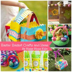 Easter Basket Craft Ideas at happyhomefairy.com