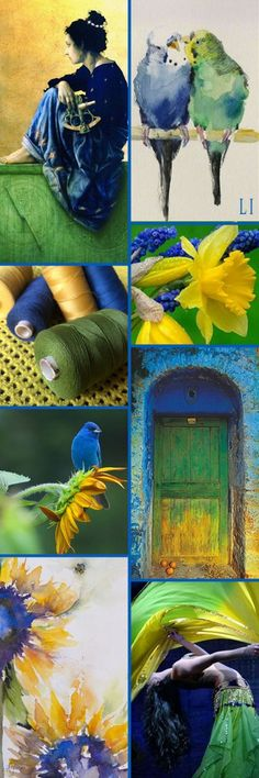 Cobalt blue | yellow | green color inspiration